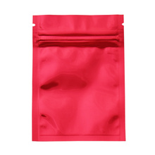 7.5*10cm 1000pcs/lot Glossy Red Reclosable Aluminum Foil Zip Lock Package Bag DHL Shipping Grip Seal Food Vacuum Pack Bags