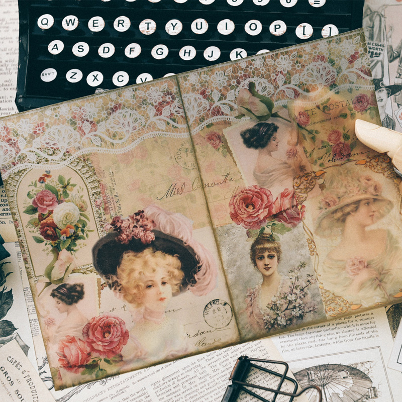 Kscraft Retro Flower Stickers For Scrapbooking Diy Projects/photo Album/card Making Crafts Arts,crafts & Sewing Scrapbooking & Stamping