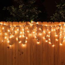 72m 100 led christmas lights clear mini icicle string lights for christmas tree wedding decoration with us plug