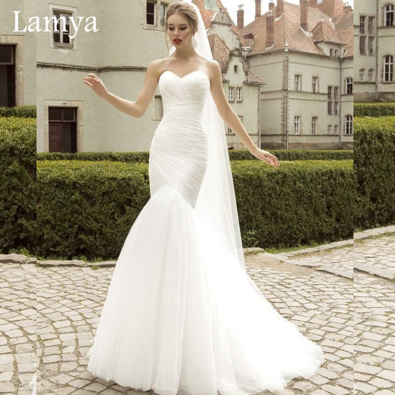 Online get cheap simple bridal gowns for White wedding dress cheap