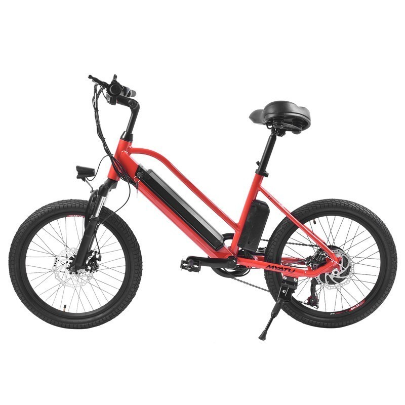 MYATU Electric Bike 20 inch 36V7 5A Lithium Battery Aluminum Electric Bicycle 250W Powerful Fat tire bike Snow Mountain e bike in Electric Bicycle from Sports Entertainment