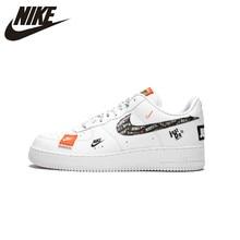 Asli Baru Kedatangan Otentik Lakukan Saja NIKE AIR FORCE 1 RENDAH Pria  Nyaman Skateboard Sepatu Olahraga Sneakers AR7719-100 3cd70229ef
