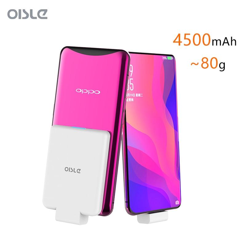 4500mAh batterie de secours extra plate Pour Oppo Find X Chargeur De Batterie étui pour vivo X27 V15 Pro Externe Batterie De Secours Chargeur Portable
