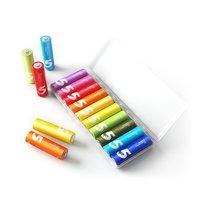 10pcs XIAOMI ZMI ZI5 AA Battery Rainbow Disposable Batteries