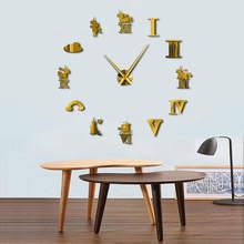 Large DIY Mirror Unicorn Wall Clock
