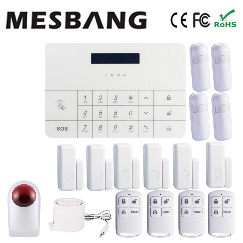 gsm wireless home burglar security alarm system with  wireless outdoor siren mobile app control  free shipping by DHL