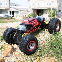 Coche de juguete eléctrico para niños, coche de control remoto para niños, coche de escalada de cuatro ruedas, vehículo todoterreno, control remoto de acrobacias