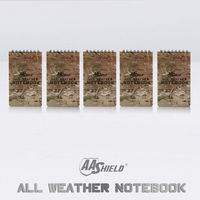 AA Shield All Weather 3 X5 Waterproof Note Camo Outdoor Map Notebook 5 PCS Free Shipping