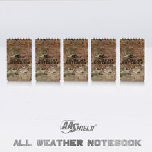 AA Shield All Weather 3″X5″ Waterproof Note Camo Outdoor Map Notebook 5 PCS Free Shipping