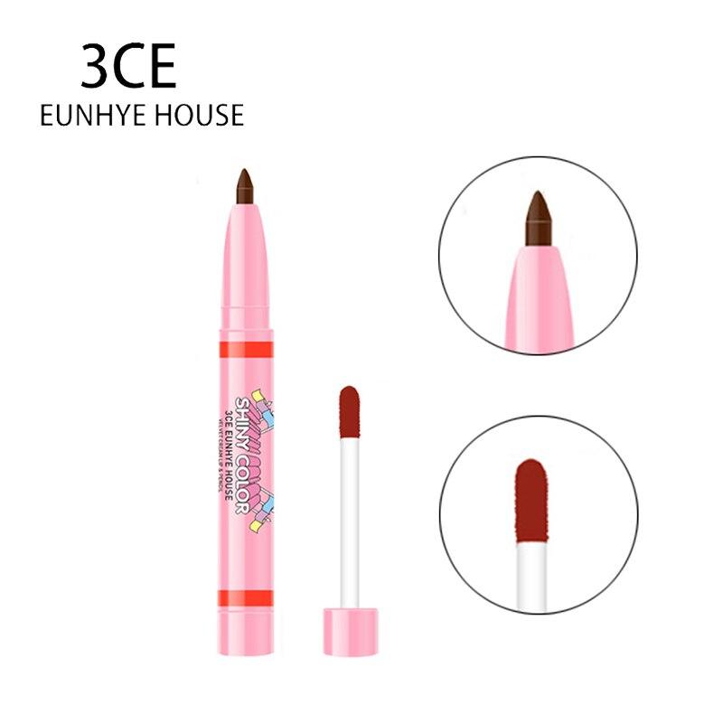 3CE Eunhye House Waterproof Colorful Lipstick Pencil Cosmetic for Lips Pen 3 Colors Liquid Lipliner Pencil Functional Lip Makeup 2