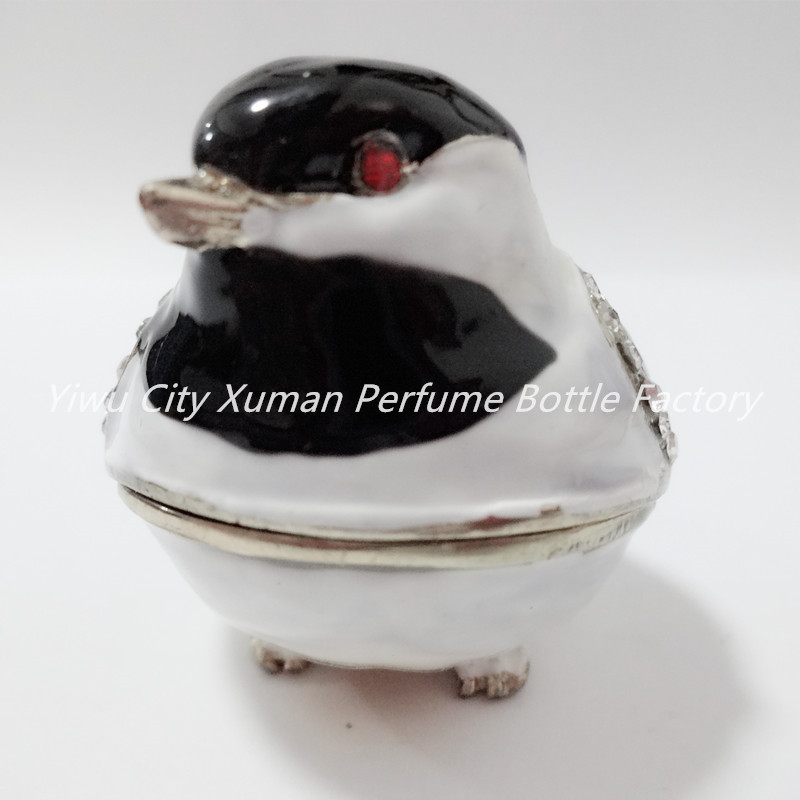 Metal Bird Jeweled Jewelry Trinket Box home decor pewter ornament wild animal enameled keepsake box vintage collectible gift
