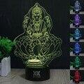 HUI YUAN 3D Visual Llevó Las Luces de Noche para Niños Avalokiteshvara Táctil USB Lampara de Mesa ya que Además de Lampe Bebé Durmiendo Nightlig