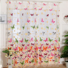 200cm x 100 cm Sheer Butterfly Curtains
