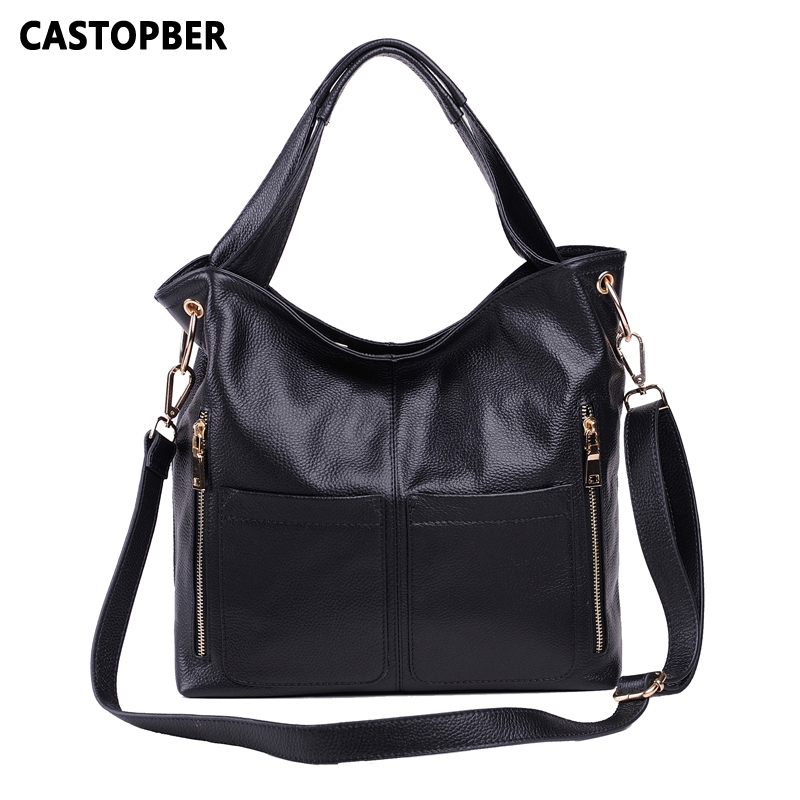 Retro Handbag European And American Style Fashion Handbag First Layer Of Cowhide Women Genuine Leather Ladies Shoulder Bag Brand teemzone top european and american fashion evening bag ladies genuine leather long style hasp note compartment wallet j25