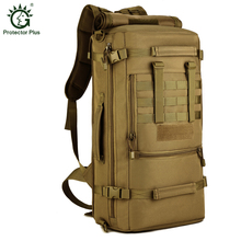 Protector Plus Large Capacity 50L Tactics Laptop Backpack Shoulder Bags Unisex Rucksacks Camping Hiking Outdoor Travel