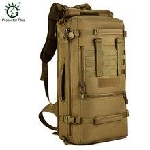 Protector Plus de Gran Capacidad 50L Táctica Mochila Portátil Bolsas de Hombro Unisex Bolsas de Viaje Mochilas de Excursión Que Acampa Al Aire Libre