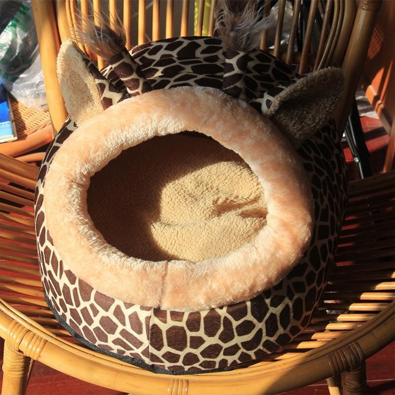 Prix de gros Mignon Maison Pour Chat Tous Les Saisons Animal Chat maison Lits Saleté-résistant Doux Yourte Chat Tapis Lit Pet Produit 39S2