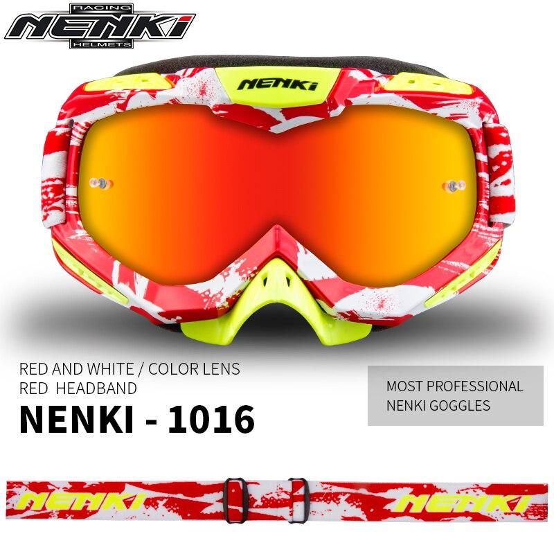 Homme moto course lunettes ski Snowboard lunettes coloré lentille Motocross tout-terrain Dirt Bike ATV DH cyclisme MX lunettes