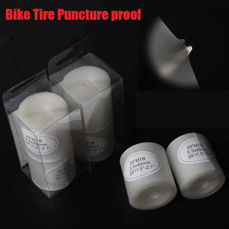 2 единиц, велосипед Шинная прокладка пунктур доказательство белого цвета для горных шоссейных велосипедов 26 29 27,5 700c внутренняя шина для велосипеда шины защиты частей