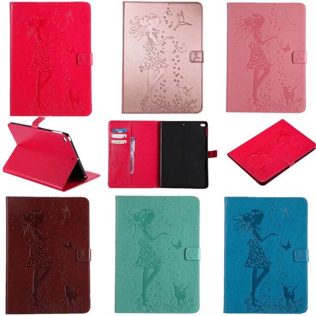 For Le Ipad Mini 1 2 3 Smart Tablet Case Imprint Women And Cats Designer Pu