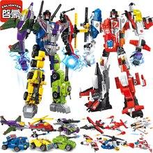 Enlighten Mecha Educational Building Blocks Toys Children Robot Truck Hero Destroyer Car Vehicle Compatible With Legoe