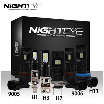NIGHTEYE światło przeciwmgielne LED H1 H3 H7 H11 9005 HB3 9006 HB4 lampa przeciwmgielna 160W 1600LM 6500K Auto jazdy żarówki przeciwmgielne CSP Chip tanie i dobre opinie NOVSIGHT 12 v CN (pochodzenie) NIGHTEYE A338 DC 12V - 24V 9005(HB3) 9006(HB4) H1 H3 H7 H11(H8 H9) Car Fog Lamp 800Lm per bulb 1600LM per Set