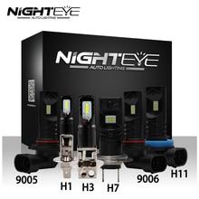 NIGHTEYE автомобиля светодио дный туман лампочки H1 H3 H7 H11 9005/HB3 9006/HB4 туман лампы 160 Вт 1600LM 6500 K авто вождения Противотуманные фары CSP светодио дный чип