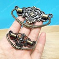 decorative antique style 73*45mm/48*28mm zinc alloy handle knob pull for boxes for wooden boxes