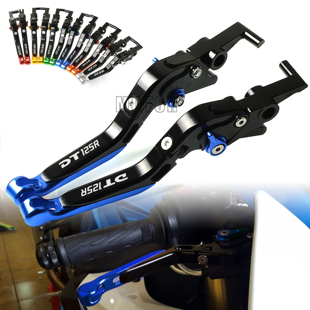 For Yamaha DT125R 2000-2004 2001 2002 2003 Motorcycle CNC Brake Clutch Levers Adjustable Folding Extendable DT125 R DT 125 125R for yamaha xt600e xt 600e 600 e 1990 2003 2002 2001 2000 1999 cnc folding extendable 147 short clutch brake levers 8 colors