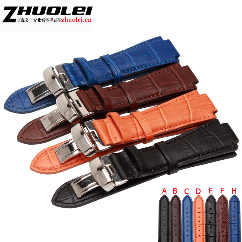 for T60 Genuine leather straps 24mm*lug 14mm*18mm with stainless steel buckle watchband for men's Wrist watches band  bracelet hot selling high quality new arrival genuine leather watchband carbon fiber straps 22mm with stainless steel buckle