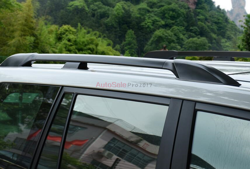 Silver black Factory Style Top Roof Rack Rails Bars Carrier Bar Black For Toyota Land Cruiser Prado FJ150 2010 2011 2012 2013 high quality silver oem factory style aluminum side roof rack rail bar for renault s a koleos 2012 2016