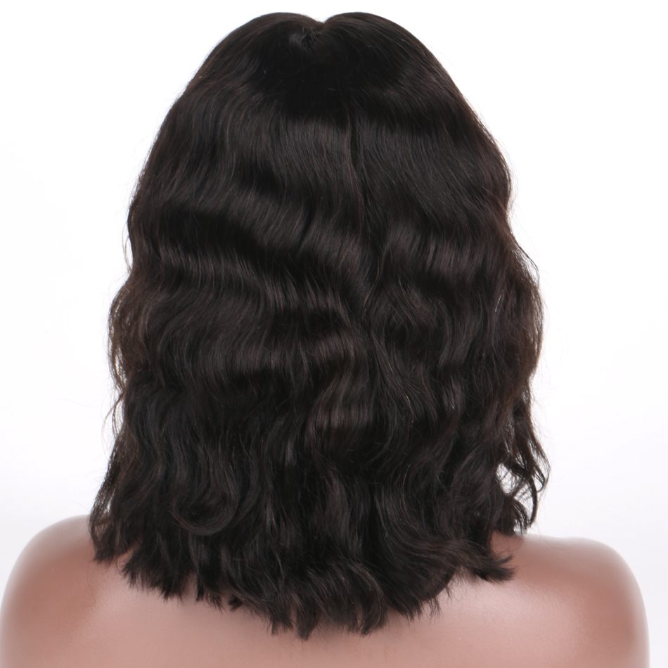 Luffy Попередньо зірвані Природні Хвиля - Людське волосся (чорне) - фото 4
