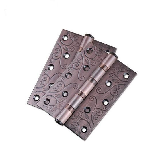 Vintage Decorative Pattern Bearing Door Hinges Stainless Steel Thickness  3mm Butt Hinge 5 Inch Furniture Flat Hingehome Hardware In Door Hinges From  Home ...