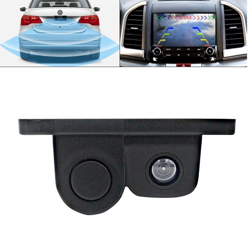 Image 4 - Car Intelligent Visual Reversing Radar Image Two In One Car Buzzer HD Night Vision Reversing Image Car Radar Camera-in DVR/Dash Camera from Automobiles & Motorcycles
