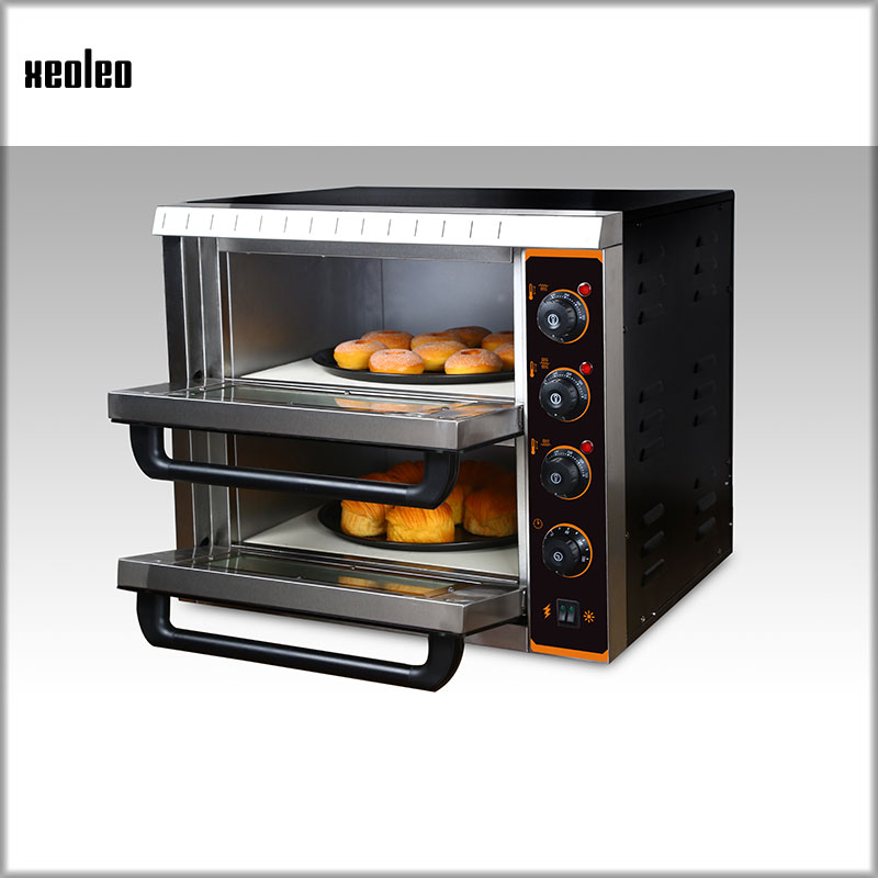 XEOLEO Commercial independent double oven Controllable electric oven Multifunctional automatic bread/pizza baking oven 3000W alex clark rooster double oven glove