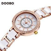 Célèbre marque DOOBO top marque de luxe dames de mode montre robe montre dames quartz montre horloge dames cristal montre étanche