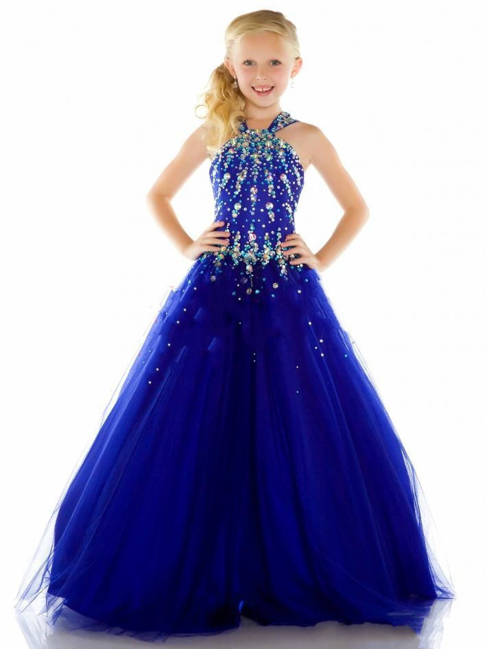 Popular Blue Pageant Dress-Buy Cheap Blue Pageant Dress lots from ...