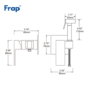 Image 2 - FRAP Chrome Brass Bidets Bathroom Toilet Sprayer Muslim Shower Bidet Tap Hygienic Shower Wall Mount Shattafs Faucets F7506