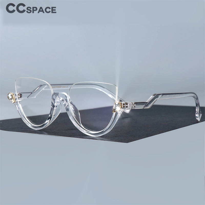 Diamonds Half Frame Glasses Frames Men Women Optical Fashion Computer Glasses 45159
