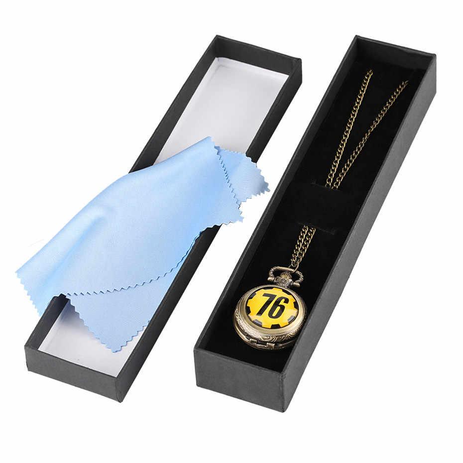 Fallout 76 Games Theme Gifts Full Hunter Quartz Pocket Watch Necklace  fallout 4 Game Fans Souvenir Fashion Wathes Men with Box
