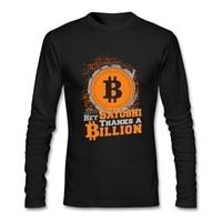 Thanks A Billion Bitcoin T Shirt Long Sleeve T Shirts For Men Pp Team Cotton T