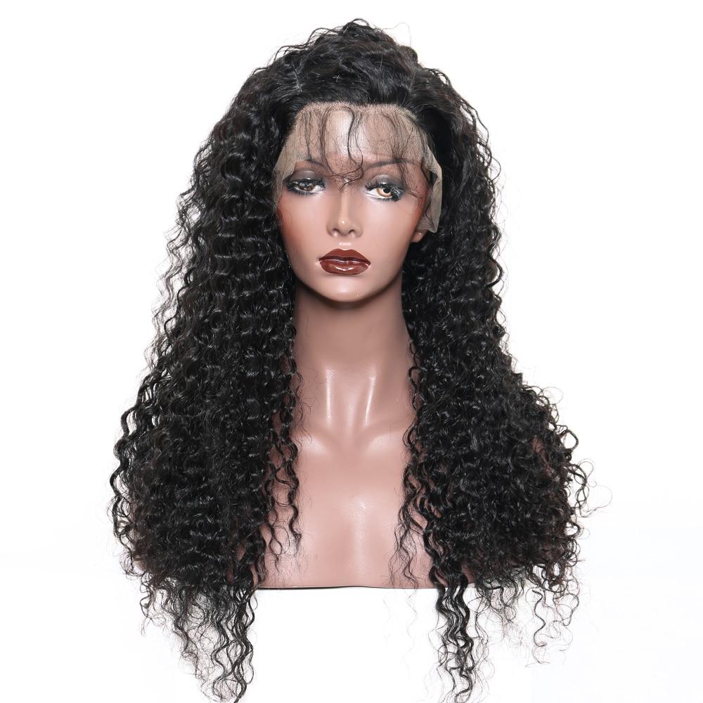 곱슬 머리 레이스 프런트 인간의 머리 가발 여성용 - 인간의 머리카락 (검은 색) - 사진 2