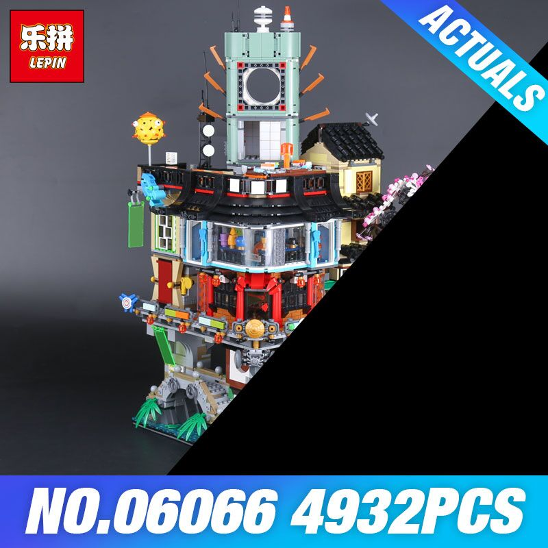 Lepin 06066  Construction Model Creative City 4932pcs Modular Building Blocks Teenagers DIY Toys Bricks Compatible 70620 as Gift luxury construction