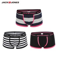 JackJones Men's Stretch Cotton Three pack Boxer Shorts Men's Underwear 2019 New Brand Breathable Underpants Male |218392534