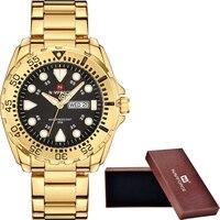 NAVIFORCE Watches Men Luxury Brand Sport Quartz Watches Men's Waterproof Military Clock Man Full Steel Watch relogio masculino