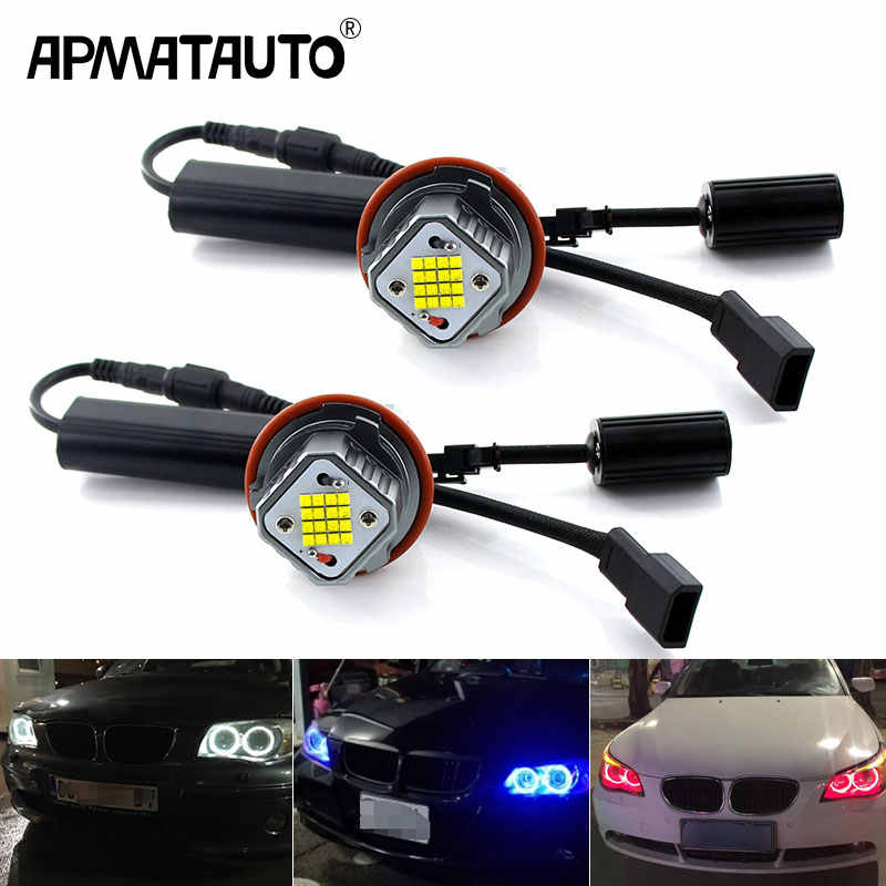 2 stuks Fout Gratis LED Angel Eyes Marker Lampjes Voor BMW E39 E83 E60 E61 E53 E64 E65 E66 LED Angel Eyes Wit mistlichten
