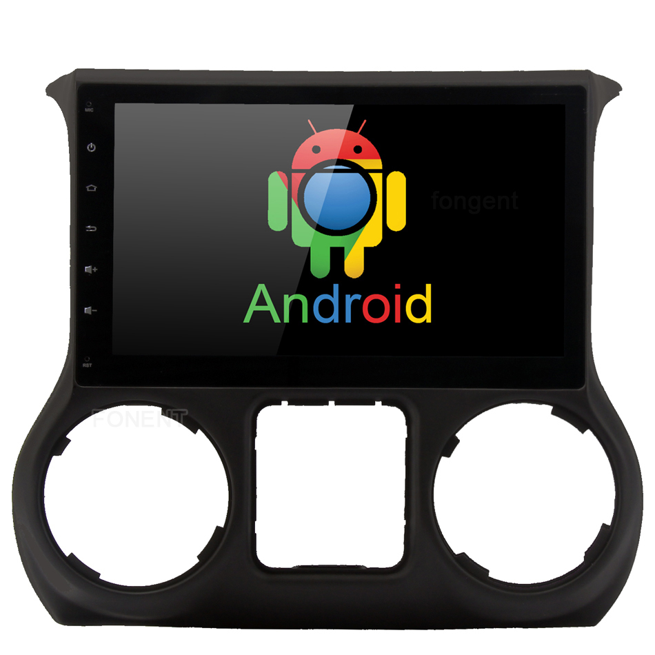 10.2 Android 8.0 CarPlay pour Jeep Wrangler 2011 2012 2013 2014 2015 2016 Voiture Multimédia GPS Radio Audio Stéréo divertissement PC