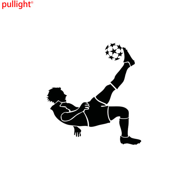 109116CM Personalized Soccer Player Playing Football Cartoon Motorcycle Vinyl Decals Stickers