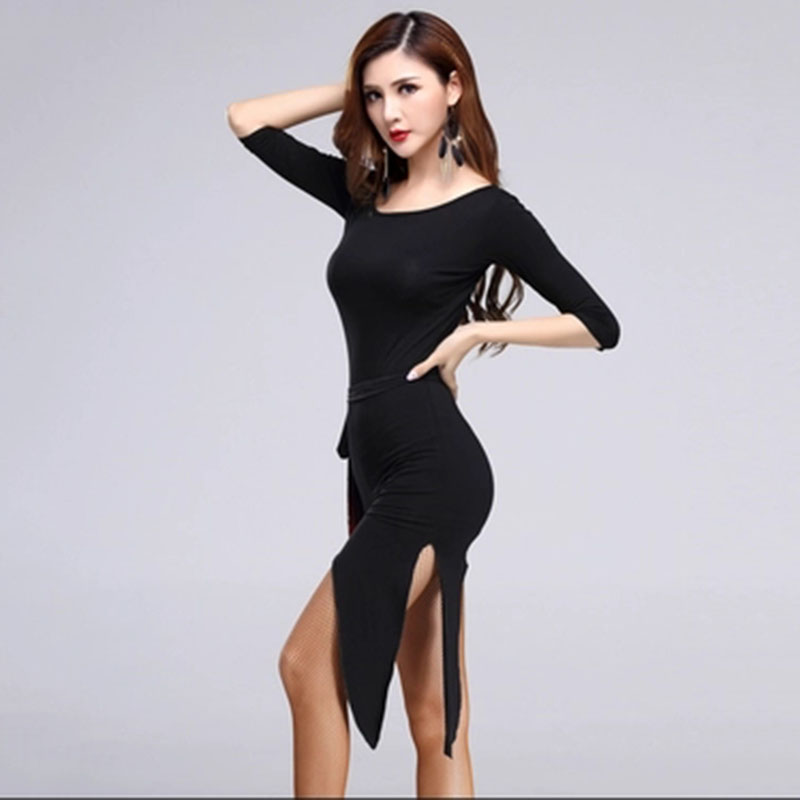 Adult Tassel Latin Dance Dress Women Tops + Skirts Cha Cha Rumba Tango Ballroom Latin Dance Skirt Latin Dance Dress For Girls