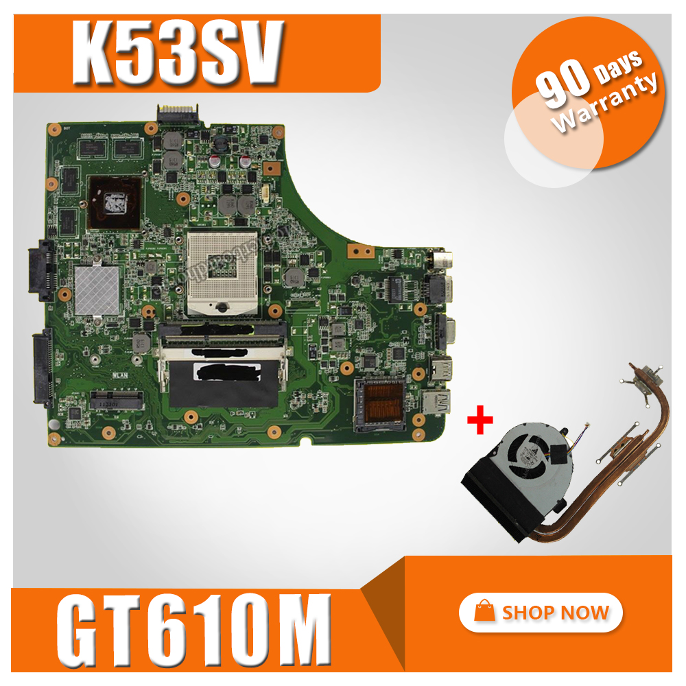 send fan K53SV motherboard GT610M 2GB K53SV For ASUS A53S K53S X53S P53S K53SJ K53SM K53SV laptop Mainboard test 100% ok free shipping k53sv gt540m 2gb rev3 0 usb 3 0 mainboard for asus k53s x53s a53s k53sv laptop motherboard p n 60 n3gmb1a00 a02